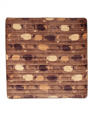 ブラウン  シープ ウォッシャブルラグ 185×240cm見る