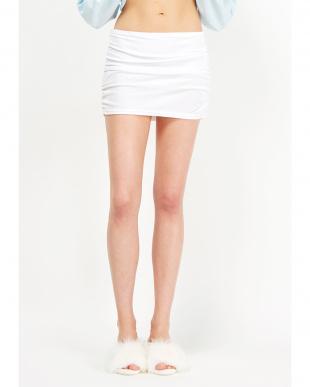 WHITE  ベロアスカートショーツ見る