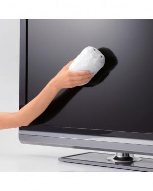 ホワイト  テレビ用ハンドクリーナー(小)見る