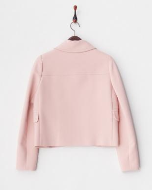 ピンク  スカラップフロントジャケット見る