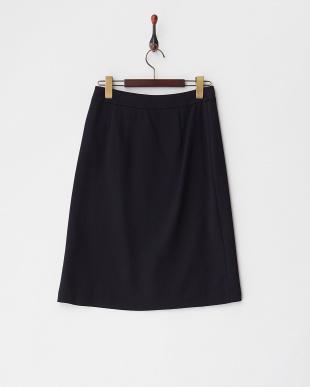 ネイビー DANIA プリーツラップスカート見る