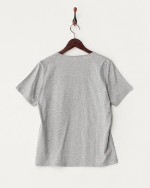グレー VALICO フラワー×ラインストーン Tシャツ見る