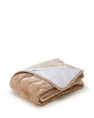 ベージュ 発熱効果で心地良い眠り あったか敷きパッド シングル見る