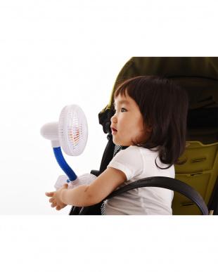 ホワイト ベビーカー扇風機 ピンホイール・ファン見る