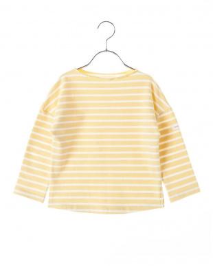 YELLOW  ドロップショルダーボーダーミニ裏毛Tシャツ見る
