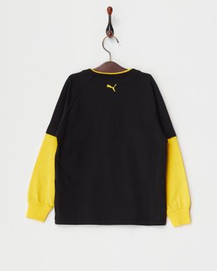 BLACK  レイヤード風 LS Tシャツ見る