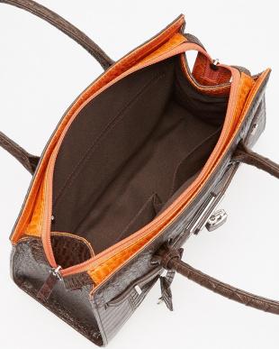 ニコチンオレンジ  ベルトモチーフハンドバッグ見る
