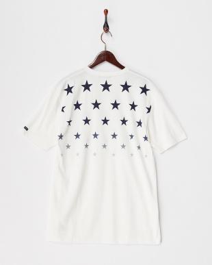 ホワイト  スターグラデーションTシャツ見る