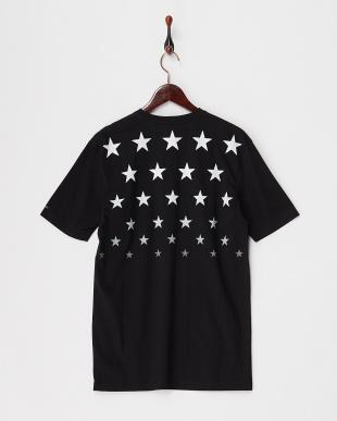 ブラック  スターグラデーションTシャツ見る
