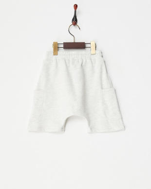 ホワイト  ポケット裏毛ショートパンツ見る