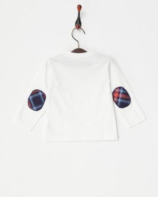 ホワイト チェックパッチ長袖Tシャツ|BABY見る