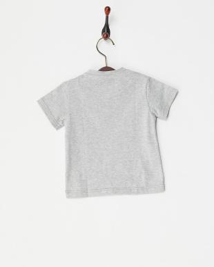グレー  チェックパッチTシャツ|BABY見る