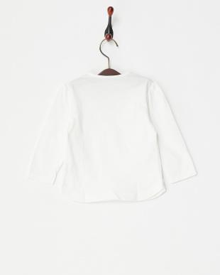 ホワイト  リボン長袖Tシャツ|BABY見る