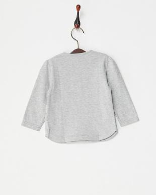 グレー  リボン長袖Tシャツ|BABY見る