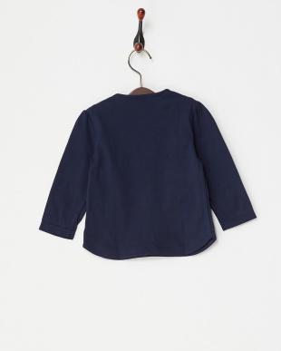 ネイビー  リボン長袖Tシャツ|BABY見る