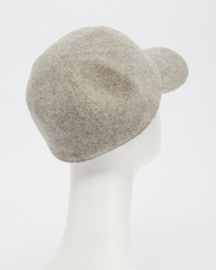 GREY  O.ロゴ刺繍WoolCap見る