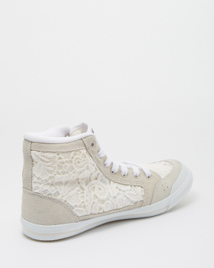 White/Flower/Lace INOMER HI F スニーカー見る