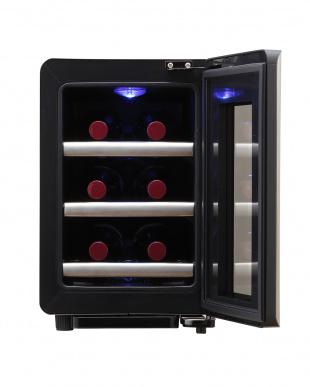 ブラック×シルバー  siroca 6本収納ワインセラー見る