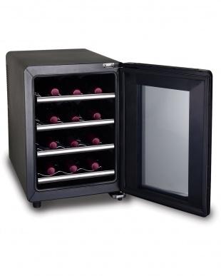 ブラック×シルバー siroca 12本収納ワインセラー見る