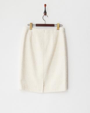 ベージュ  プリエファンシーツィードスカート見る