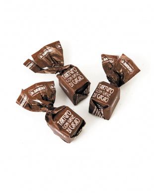 トリュフチョコレート 茶缶見る