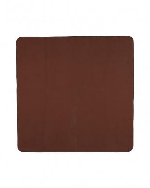ブラウン  カラーズ カービングラグ 185×185cm見る