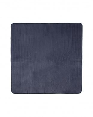 ネイビー  カラーズ カービングラグ 185×185cm見る