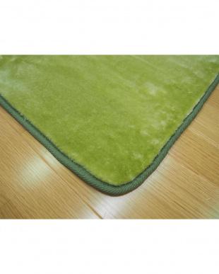 グリーン  洗えるミンクタッチラグ 185×185cm見る