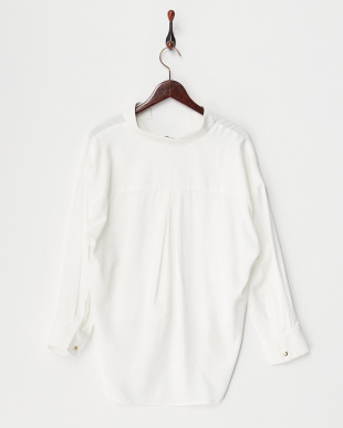 ホワイト  ゆるシルエットシャツ見る