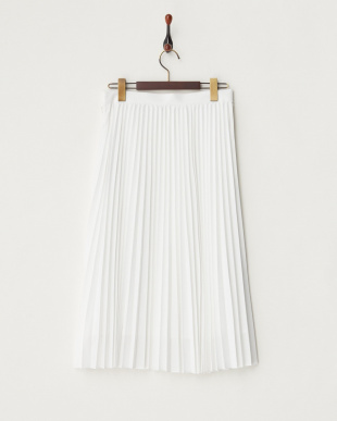 オフホワイト KFSHORE スパン プリーツスカート見る
