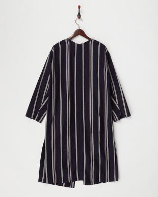 BLUE DK  ストライプ羽織りコート見る
