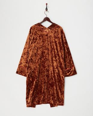 ブラウンミッド  ベロア羽織りコート見る