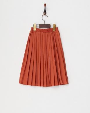 ブラウン ミディプリーツスカート(130以下)見る