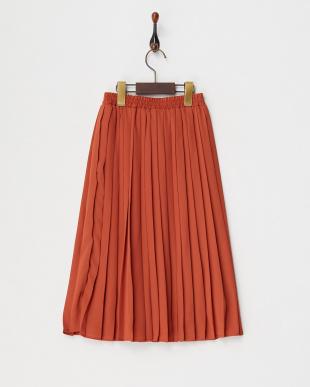 ブラウン ミディプリーツスカート(140以上)見る
