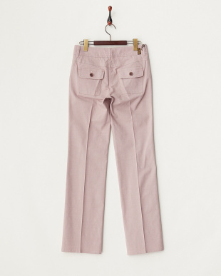 ピンク系  センタープレス ブーツカットパンツ WOMEN見る