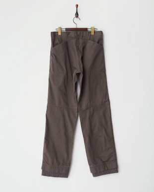 ブラウン系  ジップポケット裾リブパンツ MEN見る