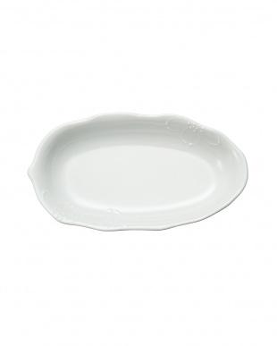 白  一珍花 新カレー皿見る
