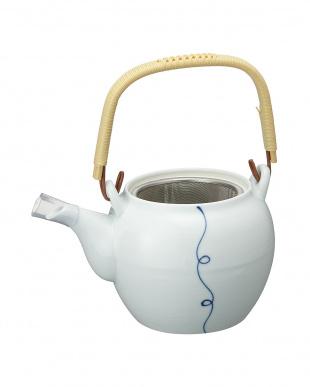 糸結び青土瓶(茶こし付)見る