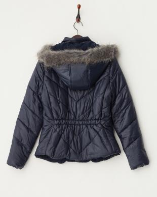 4NV NAVY 中綿入りフード付きジャケット見る