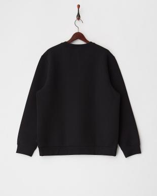 0TB TRUE BLACK 0TB ボンディング調クルーネックスウェットシャツ見る
