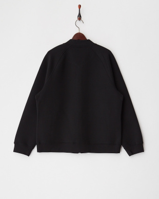 0TB TRUE BLACK 0TB ボンディング調フルジップスウェットシャツ見る