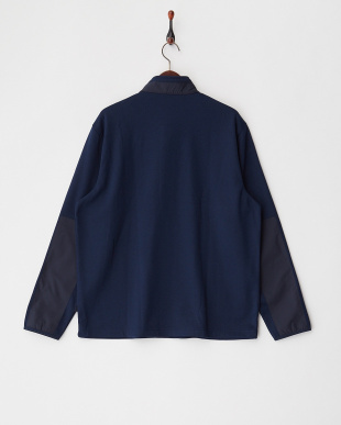 4PQ DEEP NAVY HEATHER ハーフジップスタンドカラースウェットシャツ見る