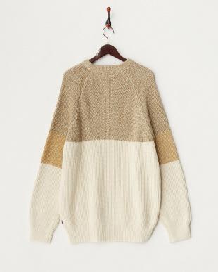 OSTRBRNHTR カラー切り替えクルーネックセーター見る