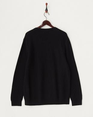 TRUE BLACK 0TB メリノウールクルーネックセーター見る