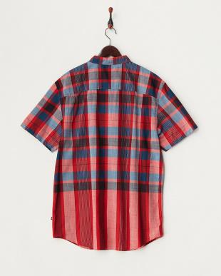SUNGUARD RED 19-1662 チェック柄半袖シャツ見る