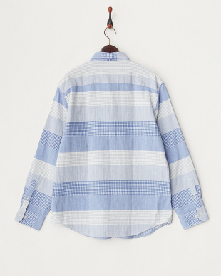 FRENCH BLUE SLIM FIT 柄切り替えボタンダウンシャツ見る