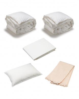 HAPPY BAG 高級ポーランド2枚合わせ羽毛ふとん+ダウン枕 カバー付き シングルサイズセット見る