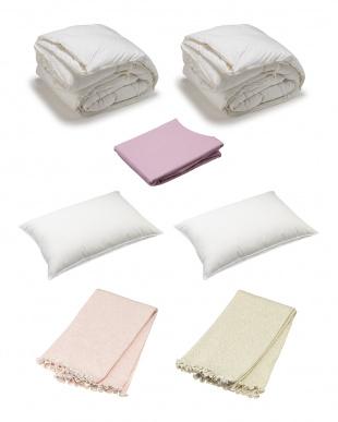 HAPPY BAG 高級ポーランド2枚合わせ羽毛ふとん+ダウン枕 カバー付き ダブルサイズセット見る