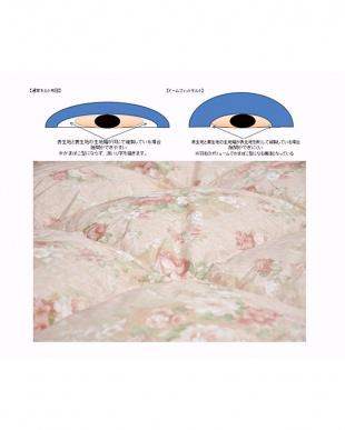 ピンク  [ダブル]ファイングレードホワイトダックダウン85%使用 軽量羽毛掛けふとん見る