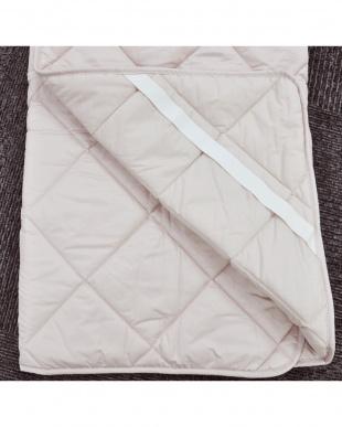 ピンク  [ダブル]合繊敷きパッド 家庭洗濯可能見る